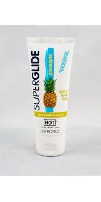 Съедобная смазка на водной основе Superglide для орального секса со вкусом ананаса 75 мл