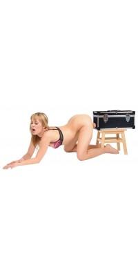Секс-машина чемодан Tool Box, две сменные насадки+вибратор-язык