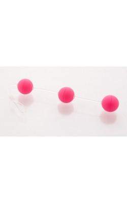 Вагинальные шарики/Без вибрации - Анальные шарики 19,5см розовые