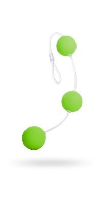 Анальные шарики 19,5см зеленые