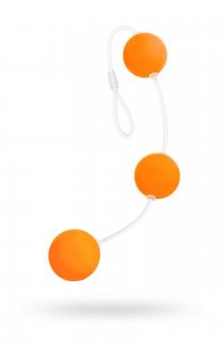 Вибраторы/Реалистик - Анальные шарики 19,5см оранжевый