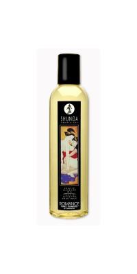 Массажное масло Shunga Клубника, возбуждающее, натуральное, 250 мл
